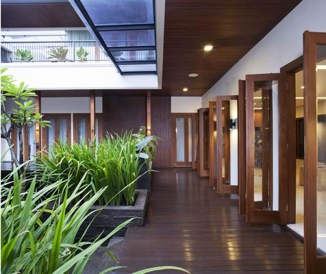 New Home Designs Latest Homes Interior Designs Studyrooms: Tropical Balinese Modern House