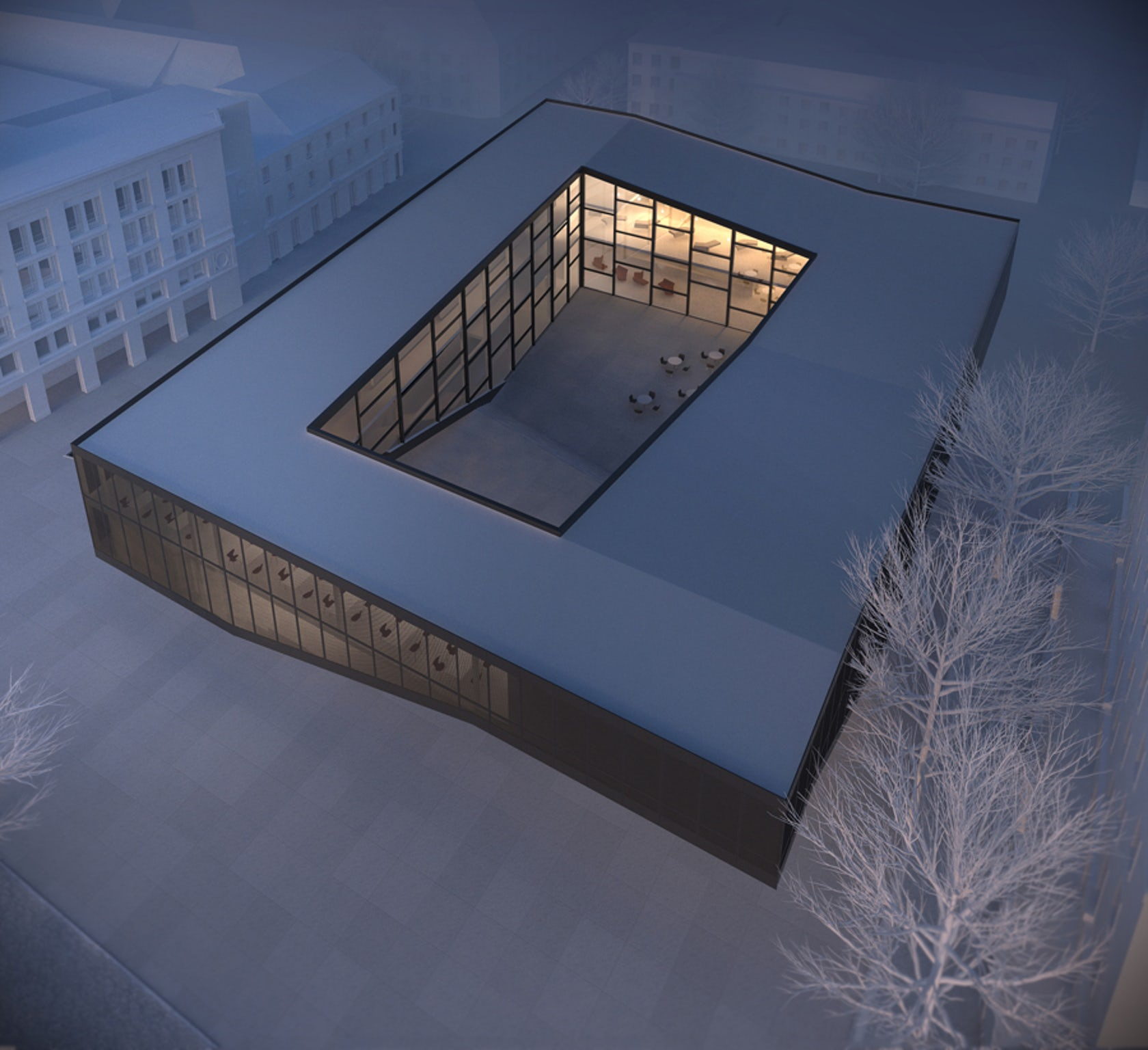 Quarter cultural center for gdansk architizer for Espace architecture