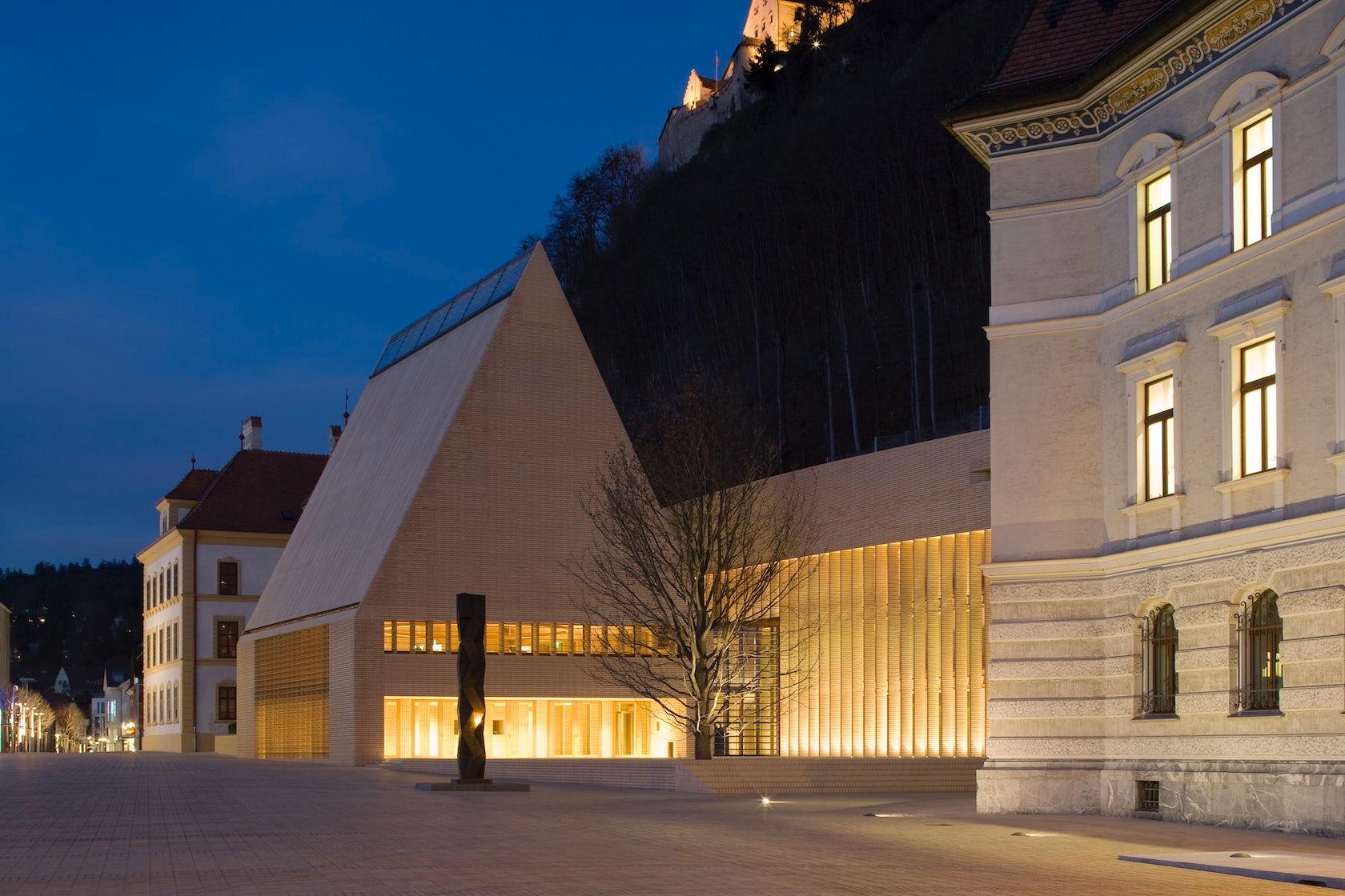 Parliament Building For The Principality Of Liechtenstein