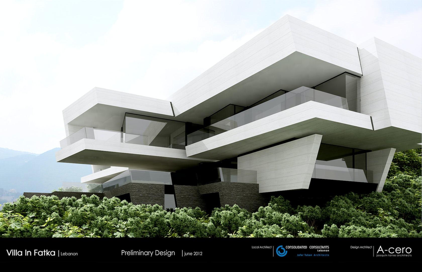 Villa in fatka lebanon by a cero joaqu n torres - A cero joaquin torres ...