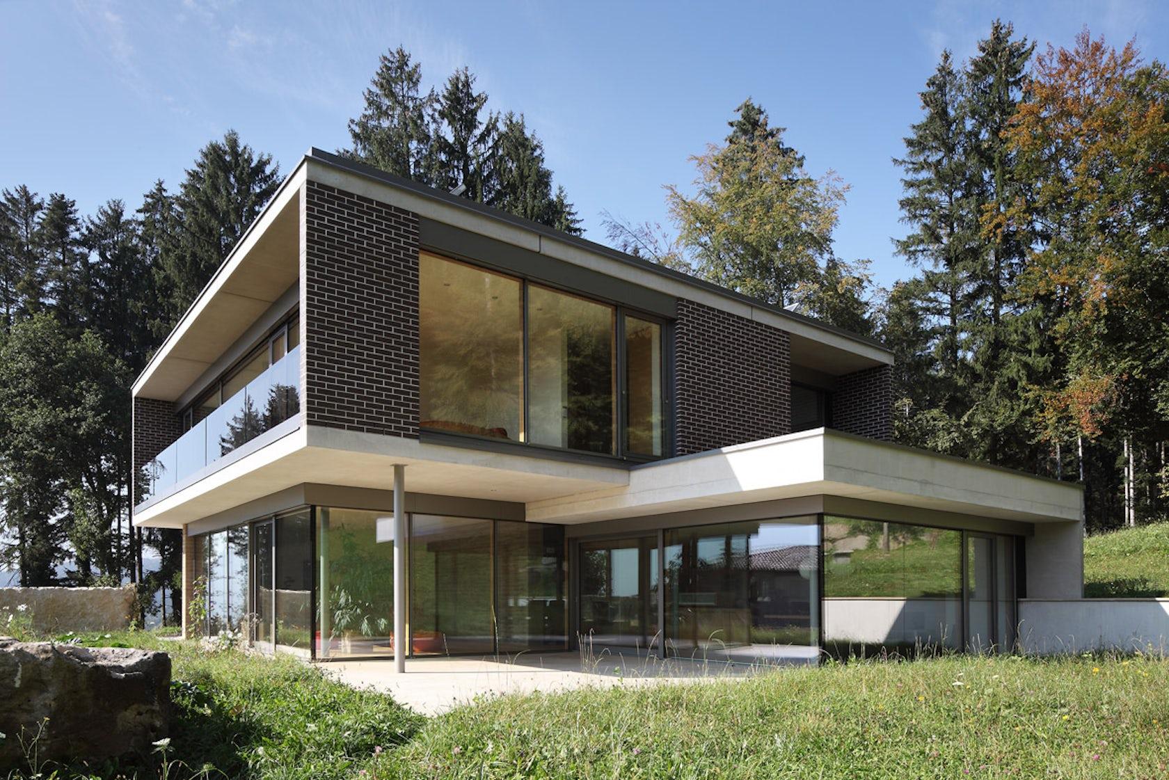 einfamilienhaus gulm architizer. Black Bedroom Furniture Sets. Home Design Ideas
