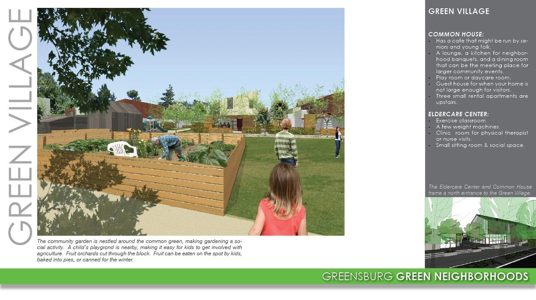 greensburg green neighborhoods on architizer