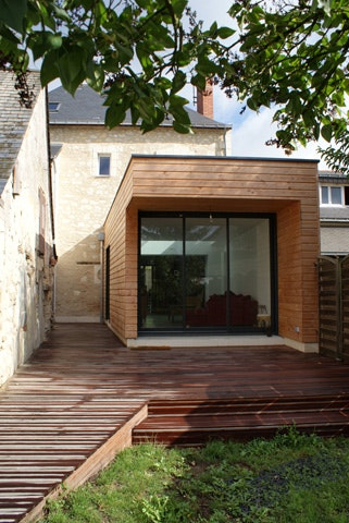 Extension Bois Maison Ancienne extension P Architizer # Extension Bois Maison Ancienne