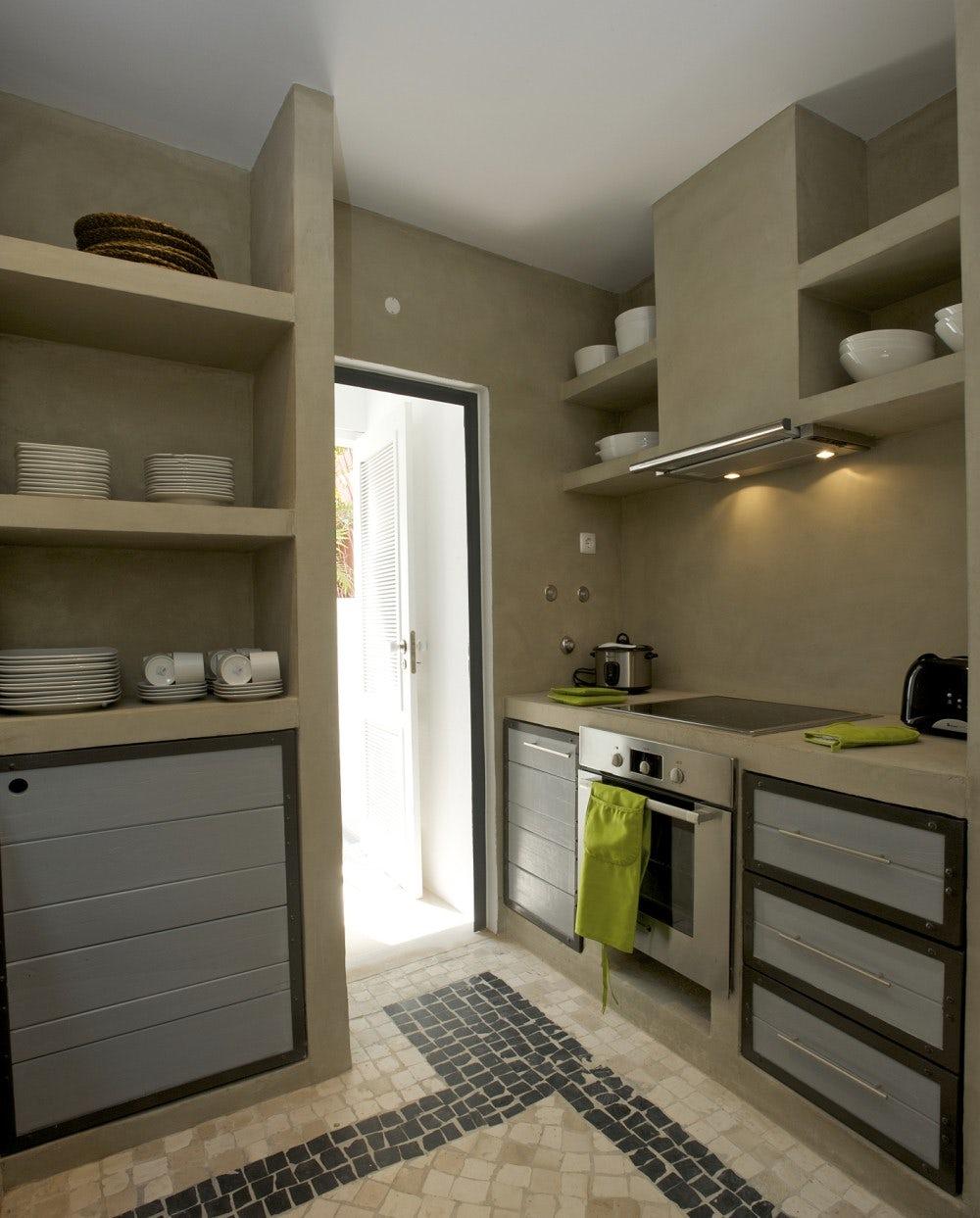 Concrete Country Kitchen