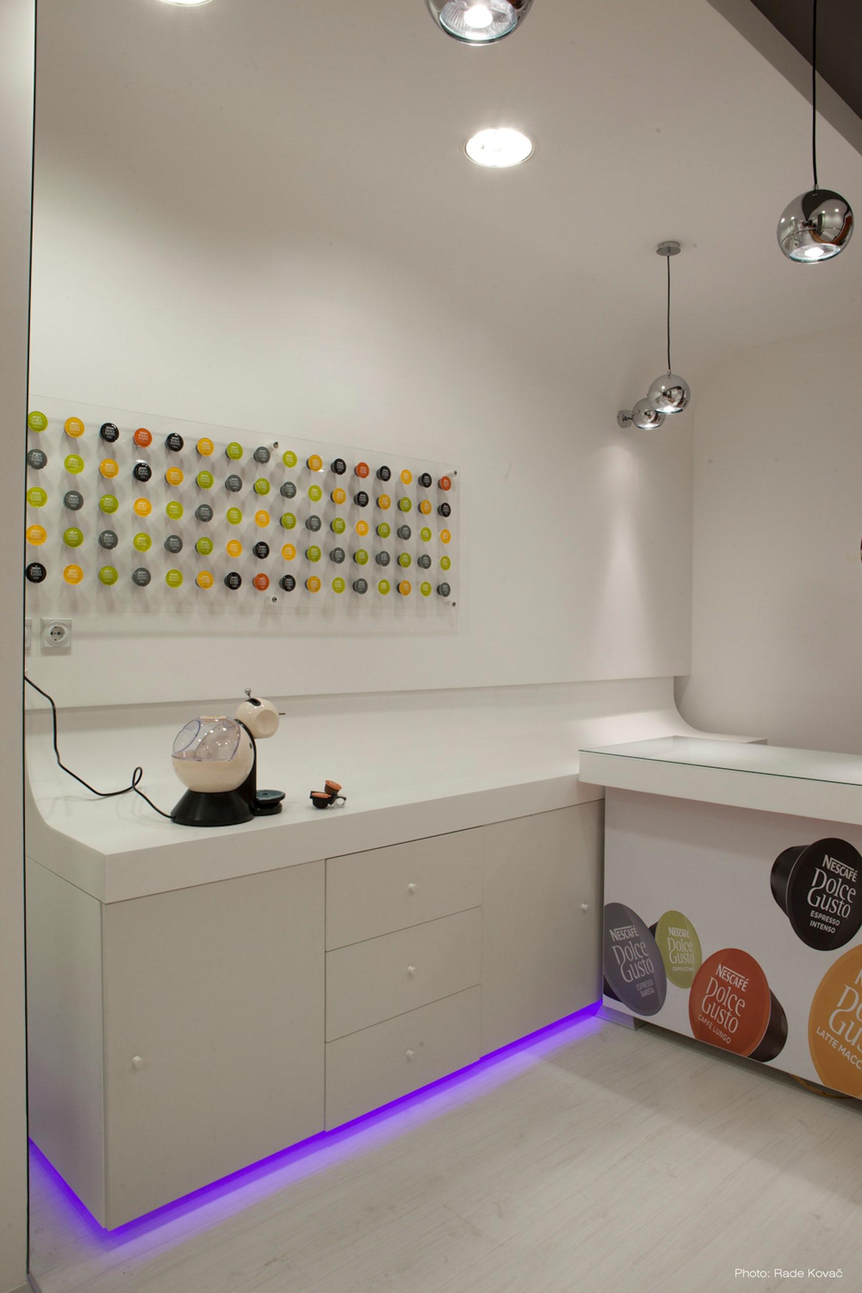 nescafe dolce gusto shop belgrade architizer. Black Bedroom Furniture Sets. Home Design Ideas