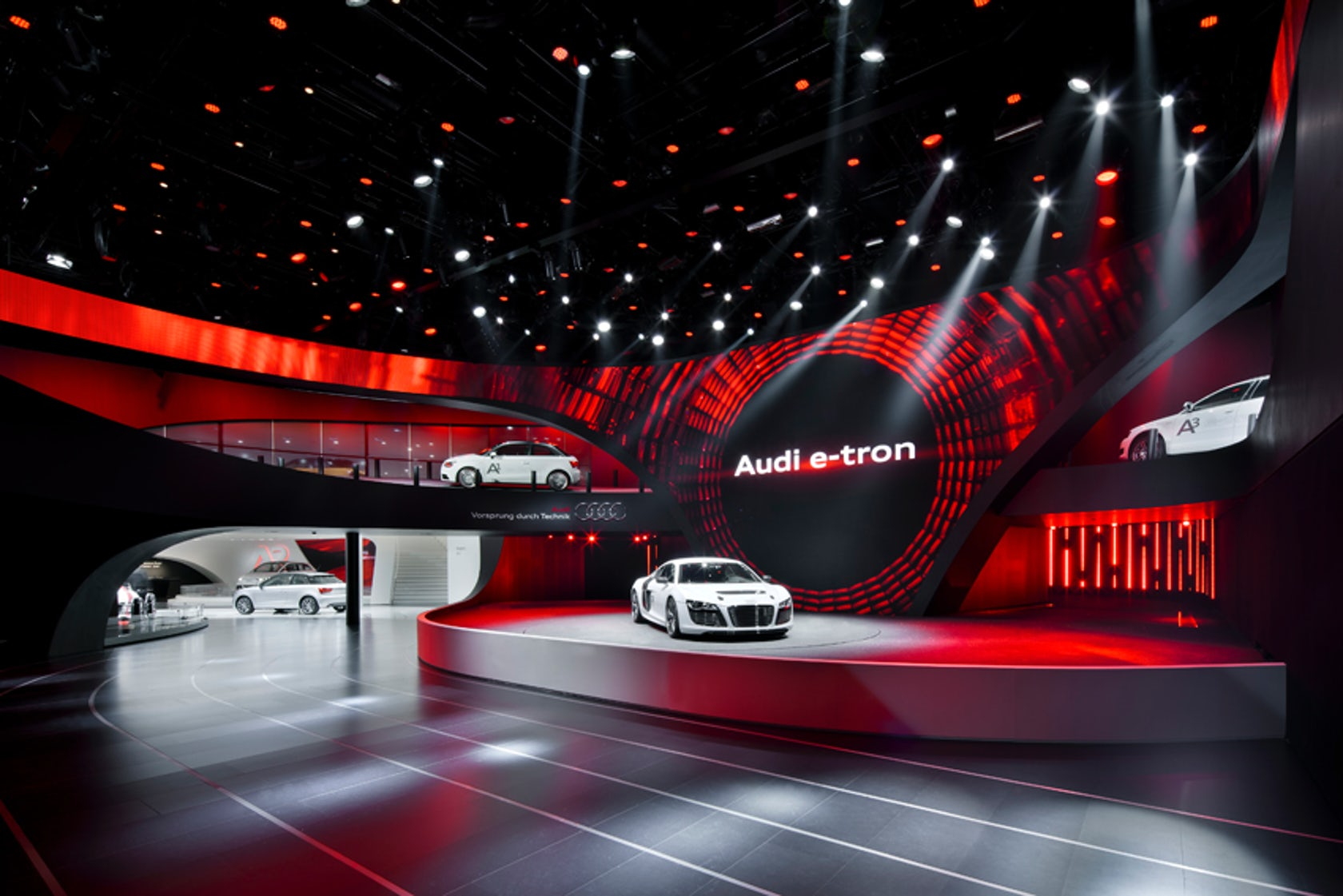 D Printing Exhibition Frankfurt : The audi ring at frankfurt motor show as a separate building architizer