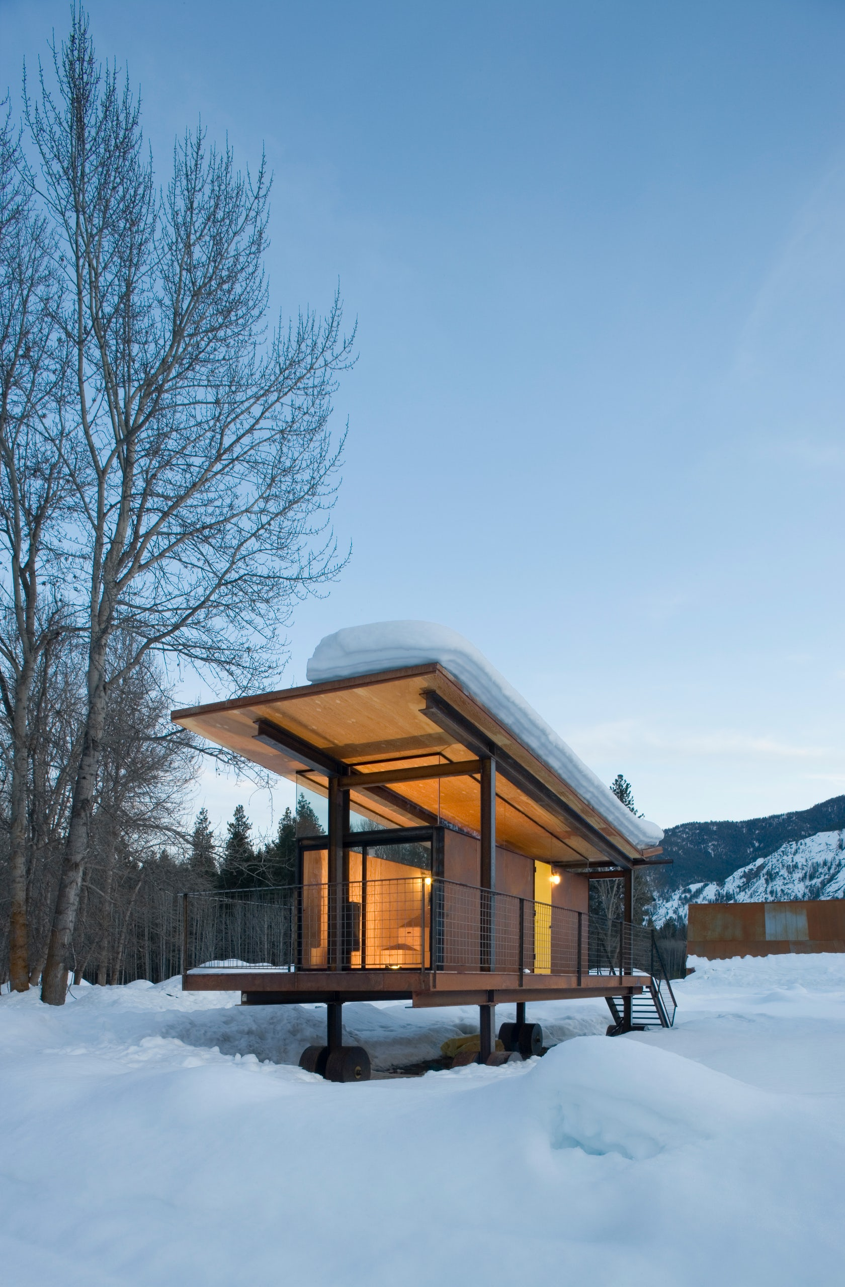 Rolling huts architizer for Tye river cabin co