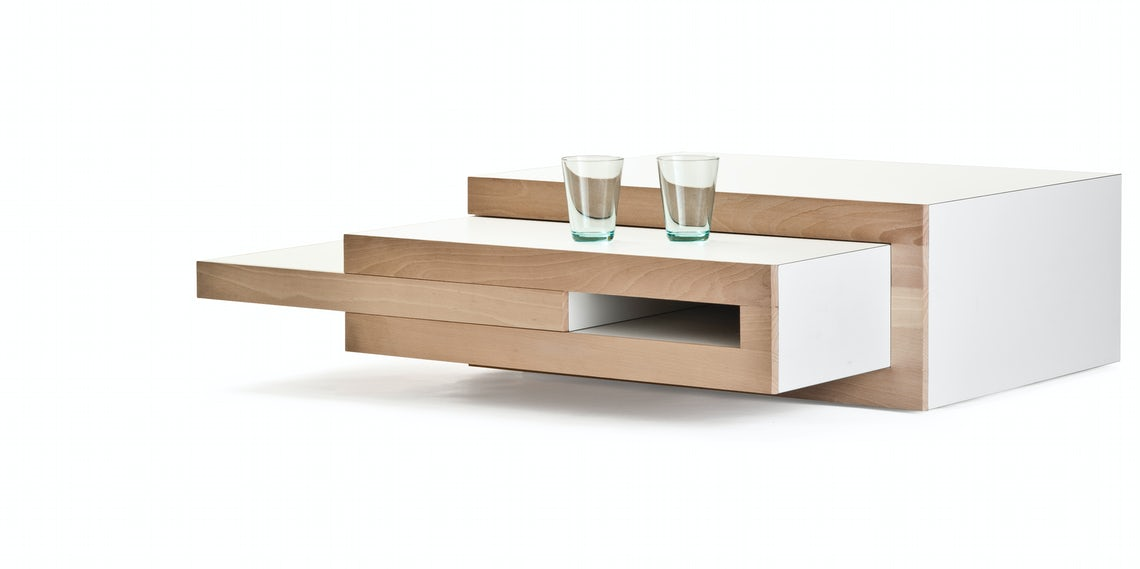 This Expandable Coffee Table Grows With Your Entertainment Needs Architizer Journal