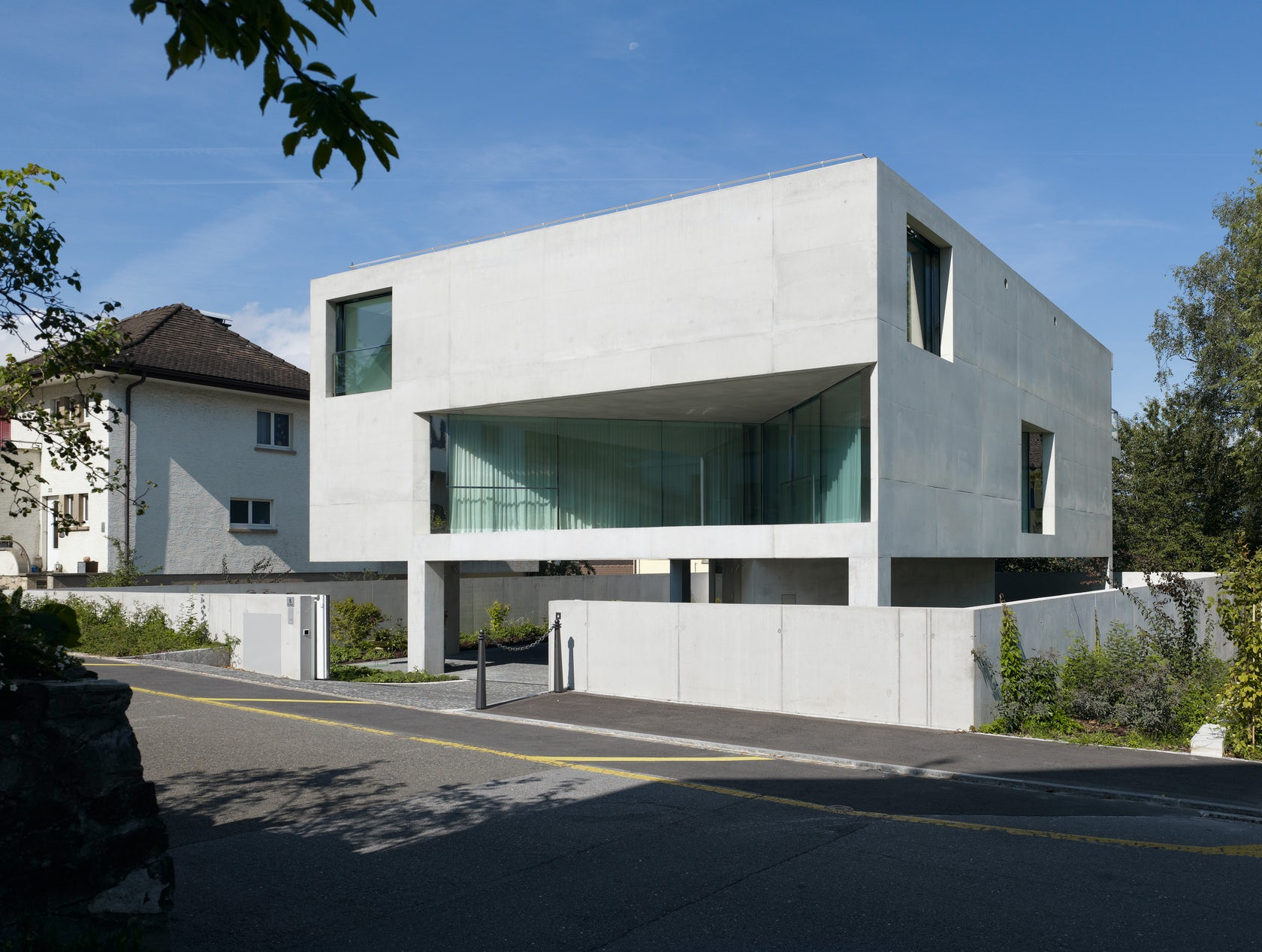 Private House On Six Pillars Schaan Architizer