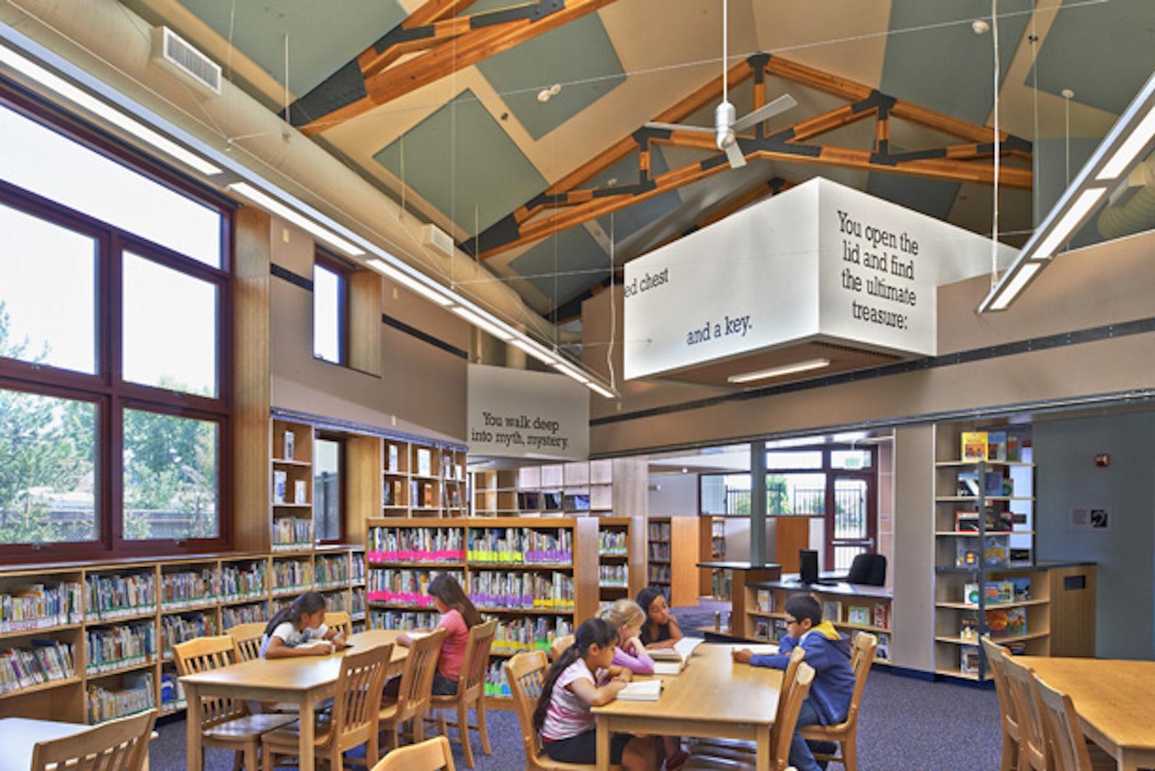 Rod Kelley Elementary School Library Architizer