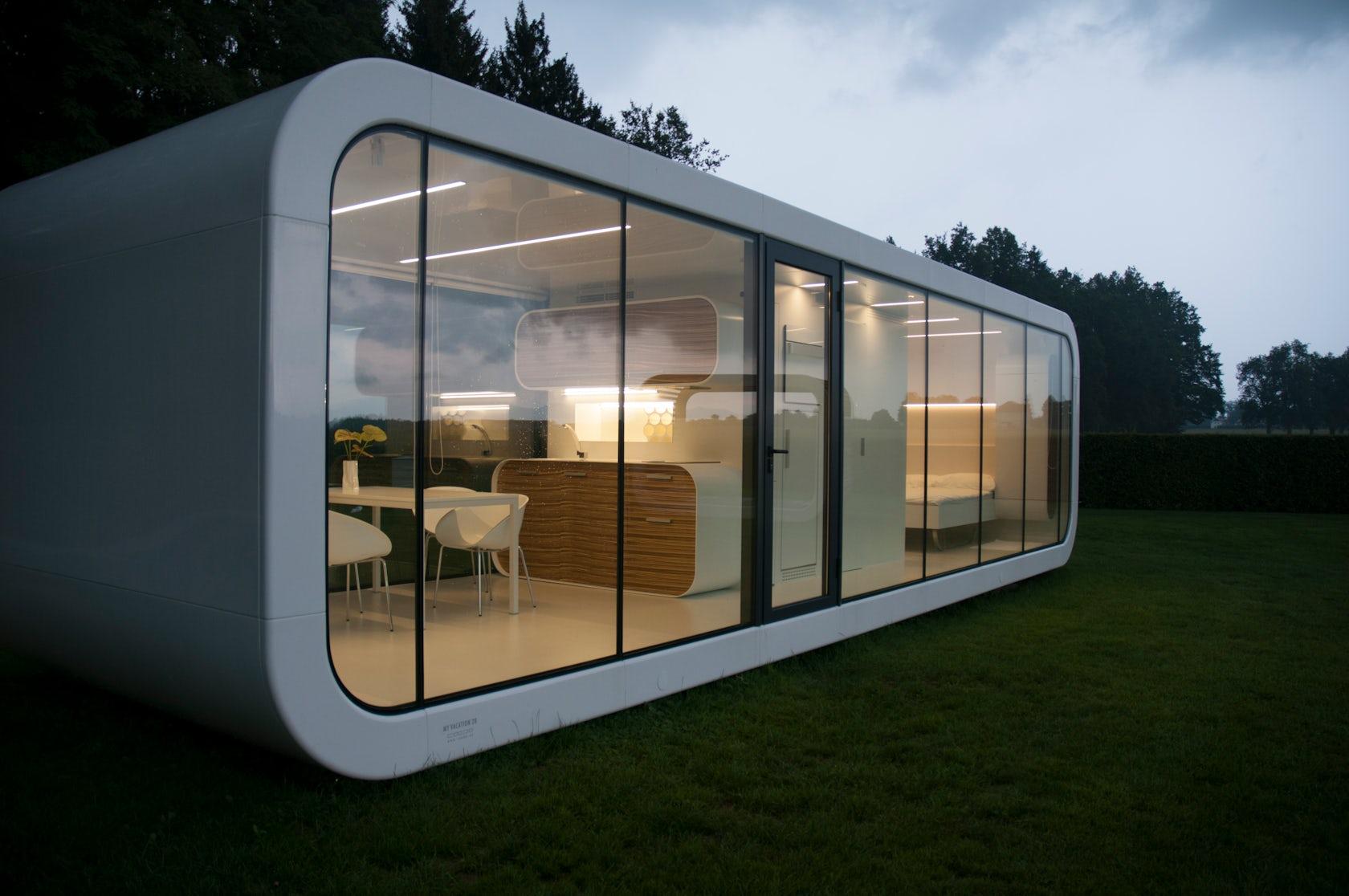 Coodo mobile living architizer for Foto di sale moderne