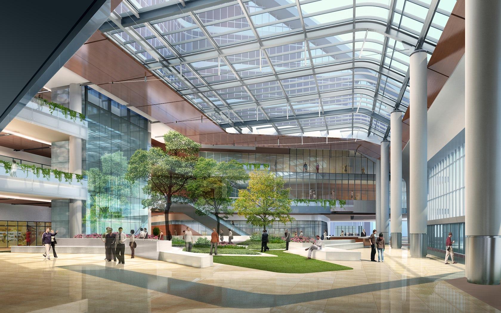 Shanghai new hongqiao international medical center shared - San diego interior design center ...
