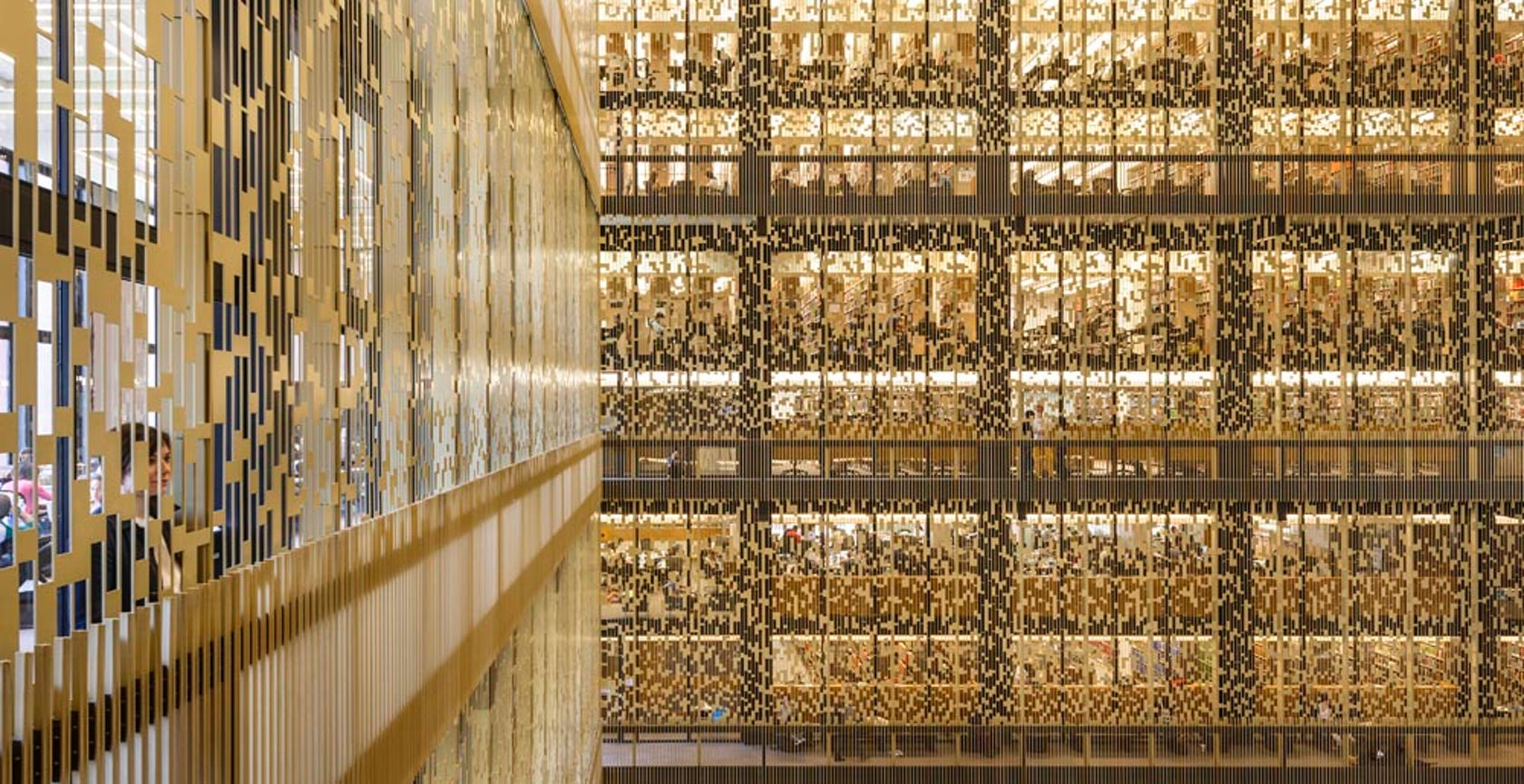 NYU Bobst Library Pixel Veil on Architizer