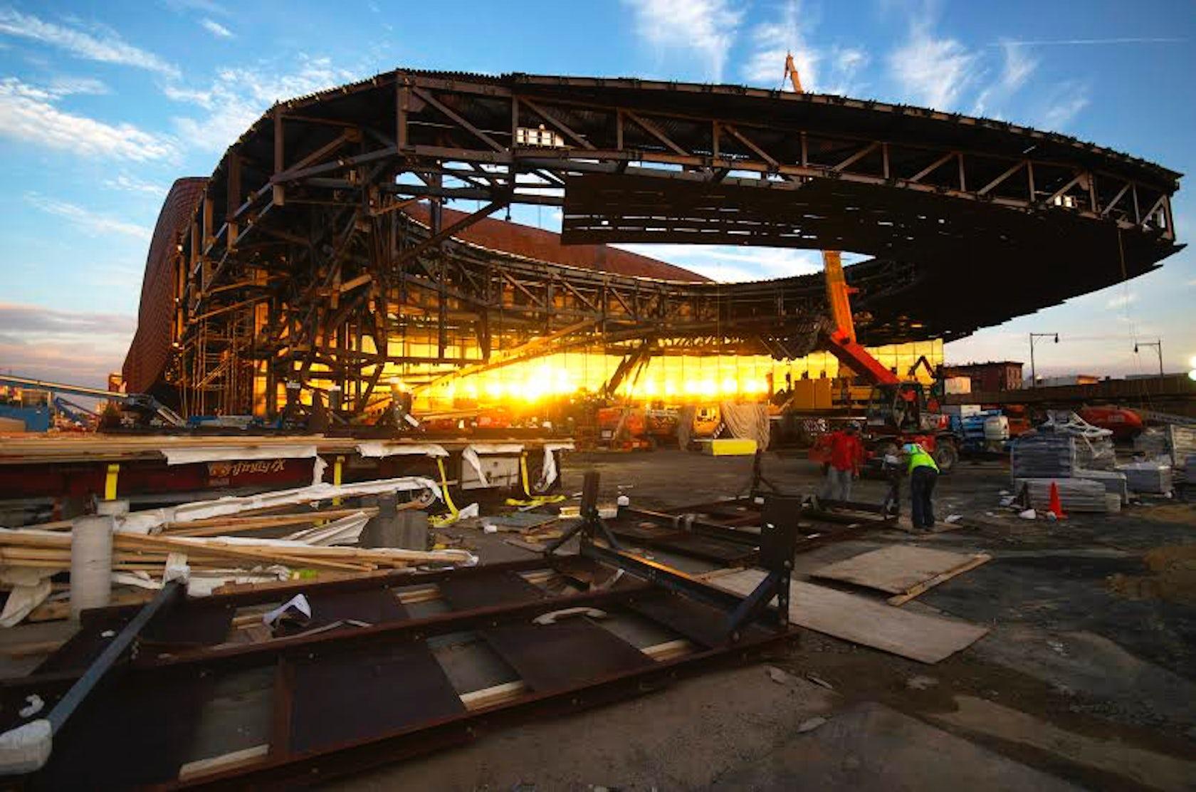Barclays Center Dmd Weathering Steel Architizer