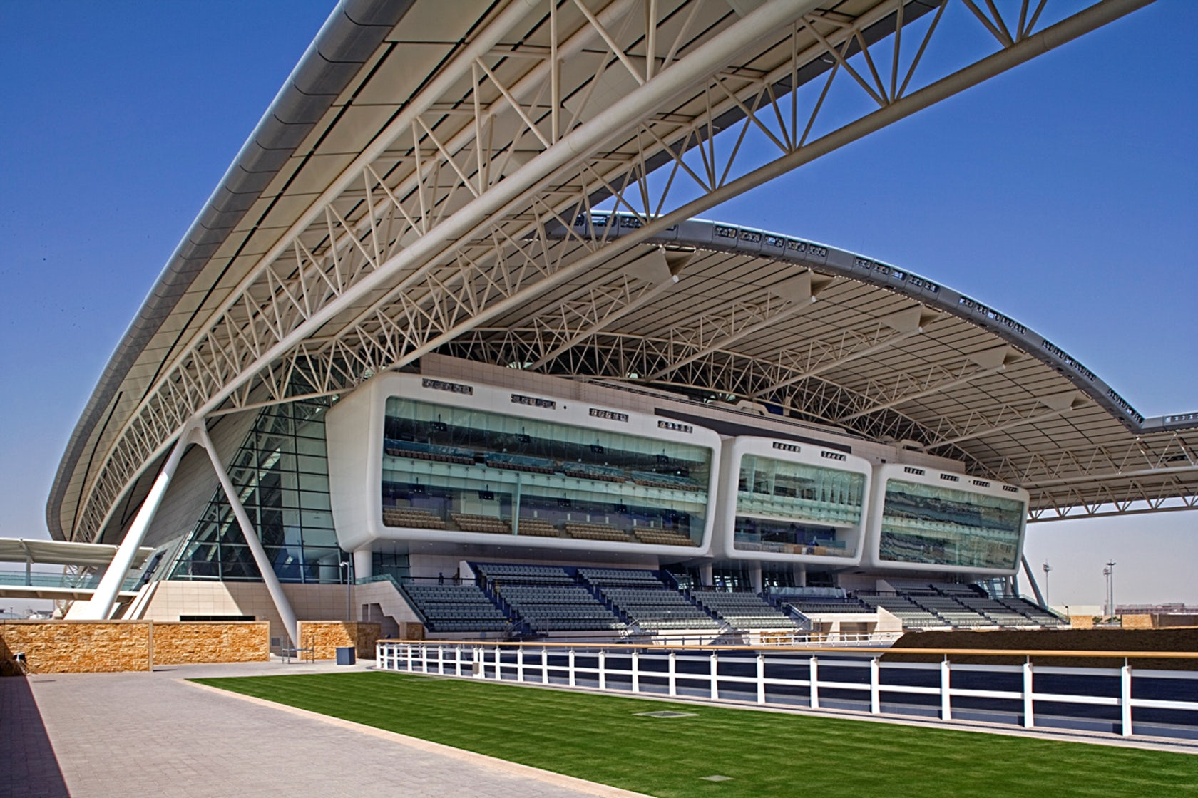 Al Shaqab Equestrian Performance Arena Architizer