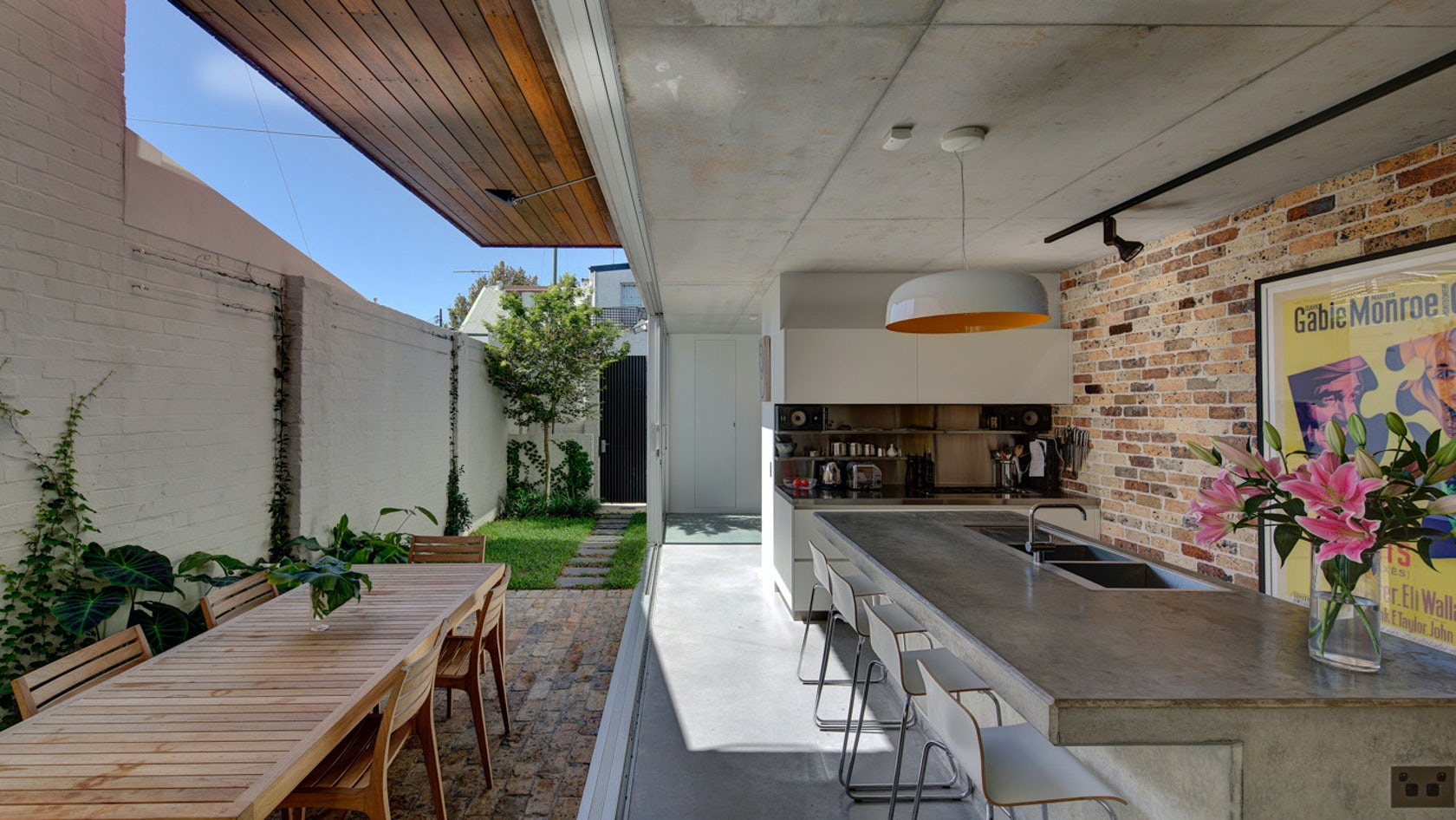 Long Courtyard House Architizer