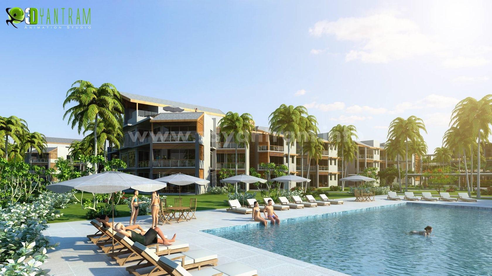 3d Hotel Resort Exterior Design Architizer