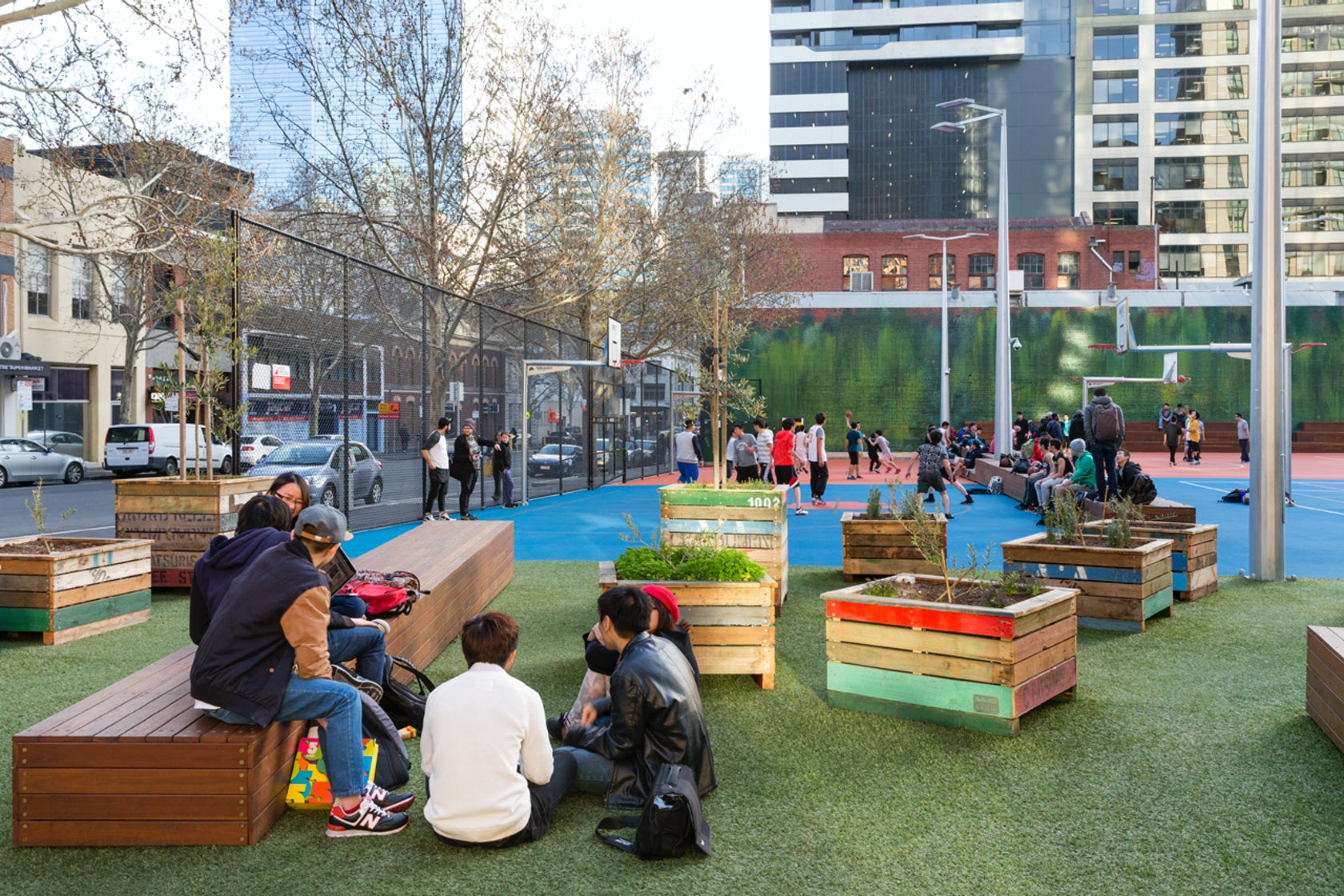 Rmit University A Beckett Urban Square Architizer