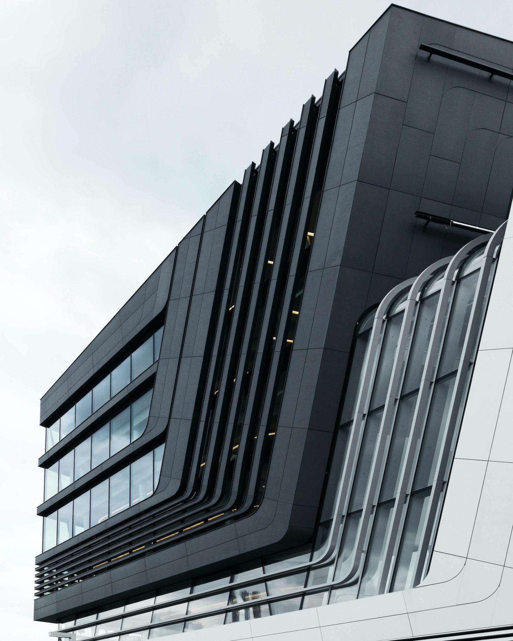 High Tech Modern Architecture Buildings: Vienna University By Zaha Hadid Architects