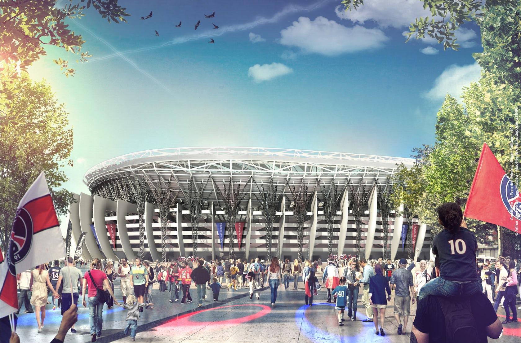 Un Grand Parc Des Princes Paris Stadium On Architizer