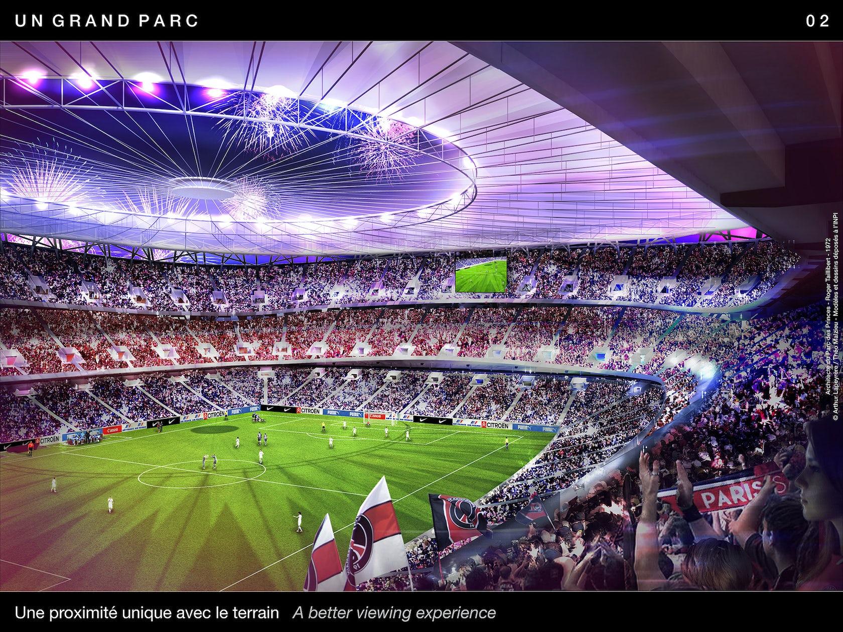Un Grand Parc Des Princes Paris Stadium Architizer