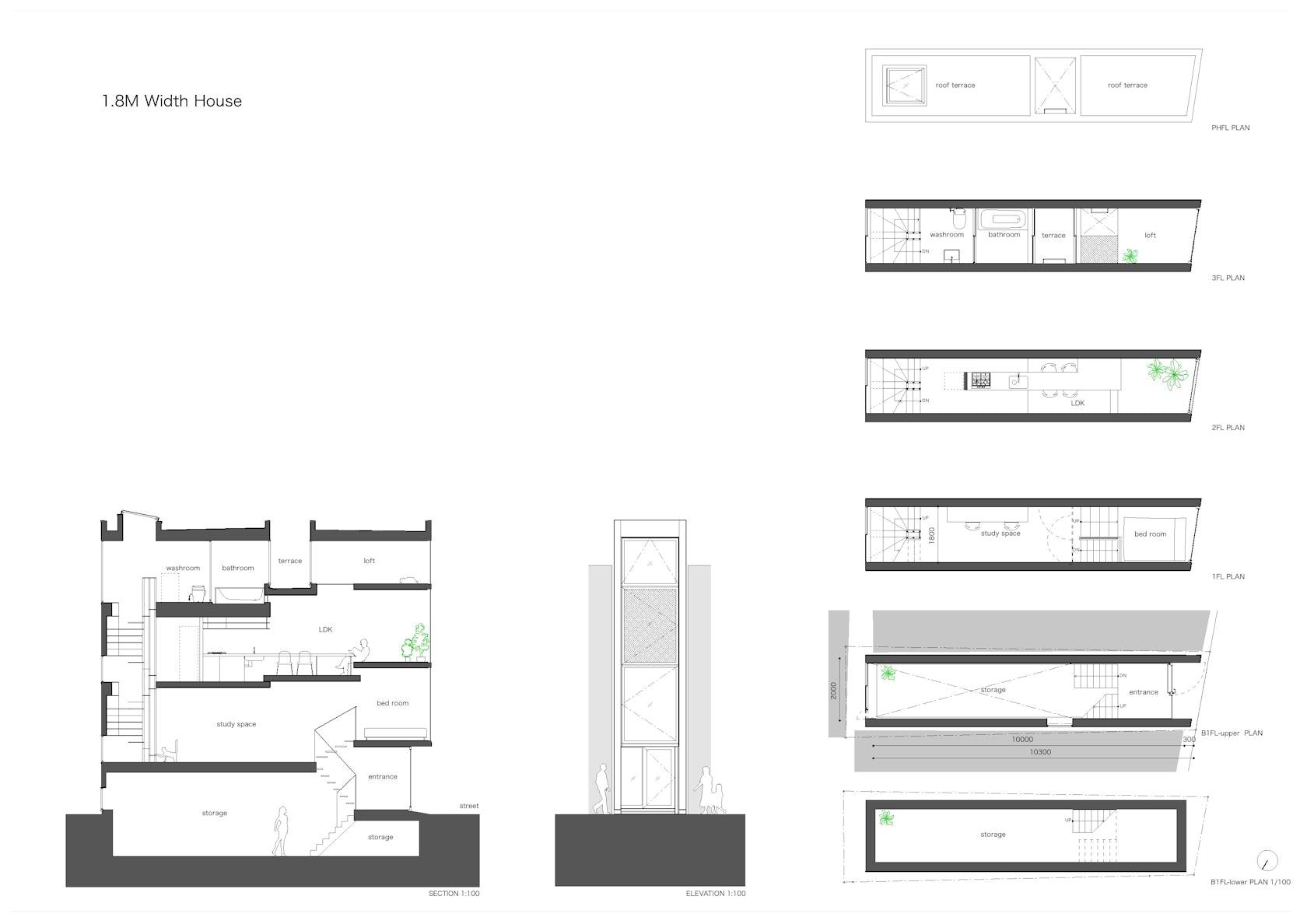 1 8 m width house on architizer