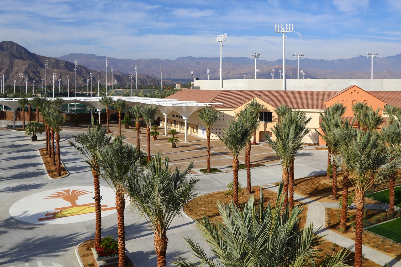 Indian wells tennis garden stadium 2 architizer - Palm beach gardens tennis center ...