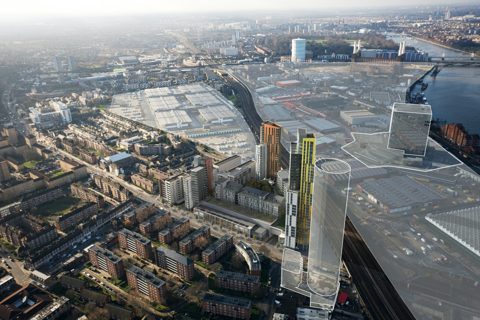 Nine Elms Point London Architizer