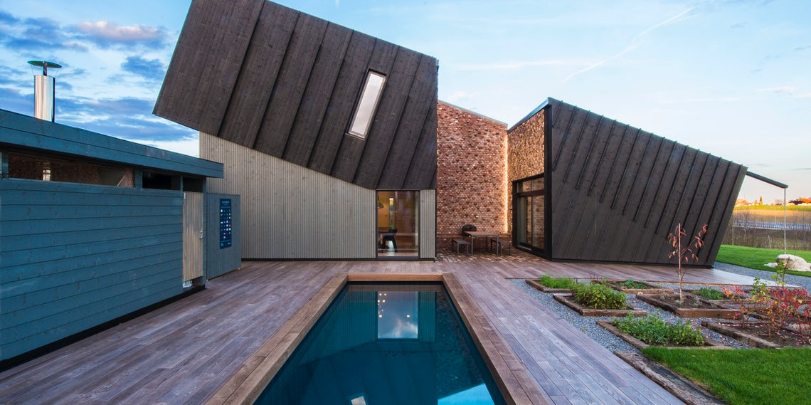 Lean In 7 Slanted Houses With A New Perspective Architizer Journal