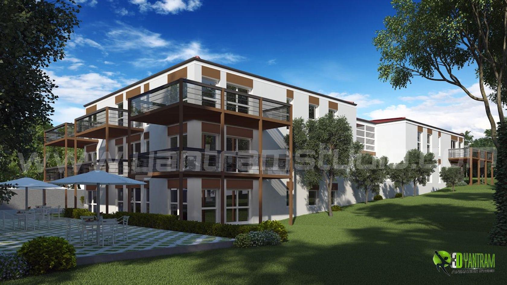 Exterior: 3D Exterior Residential Rendering Design