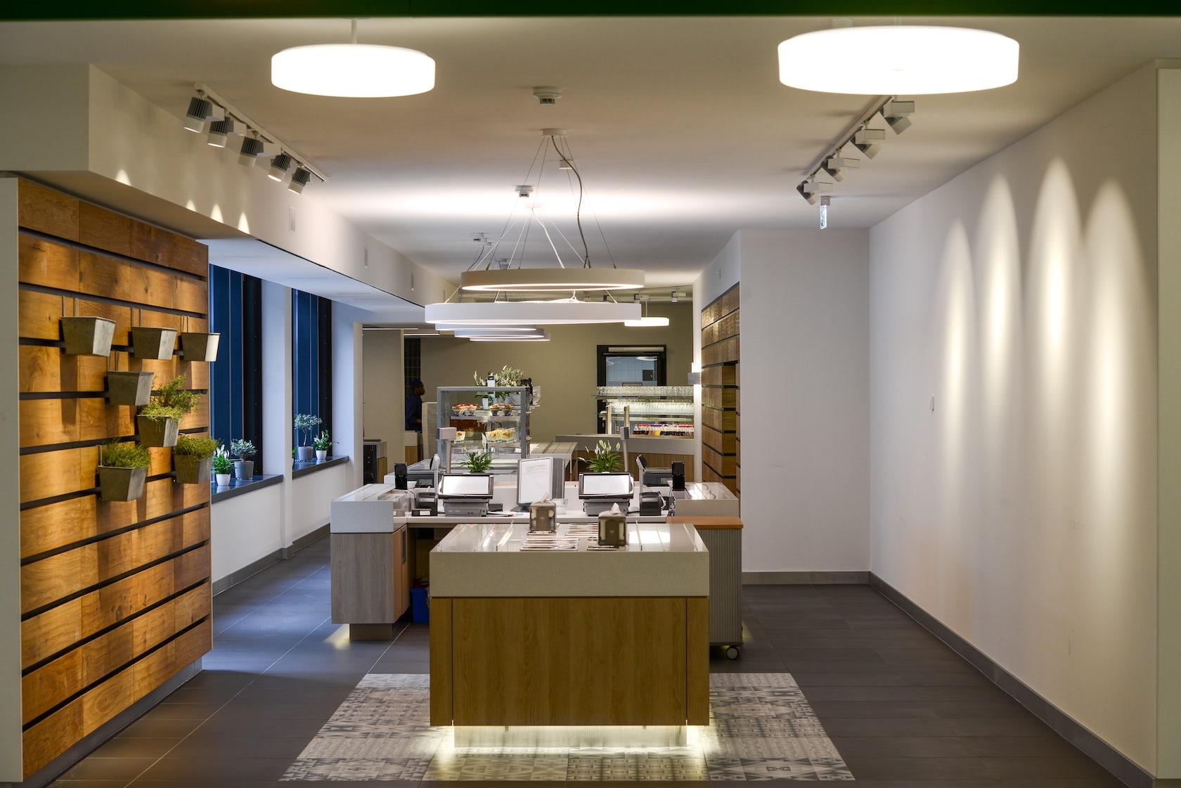 reemtsma cafeteria architizer. Black Bedroom Furniture Sets. Home Design Ideas