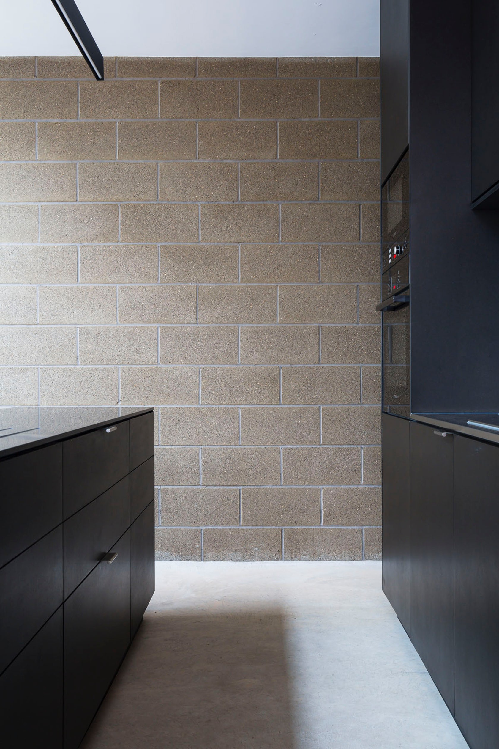 Block house architizer - Interior cinder block wall covering ...