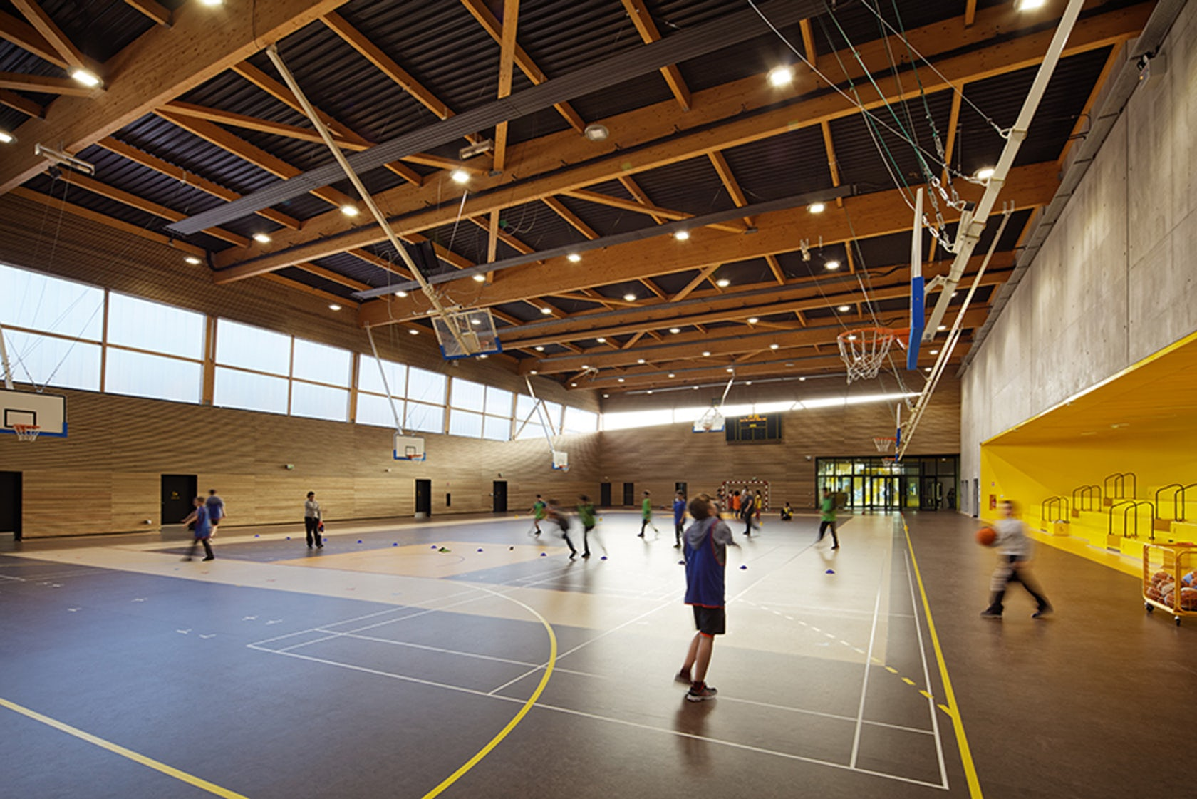 Secondary School Sport Hall And Cultural Center Architizer