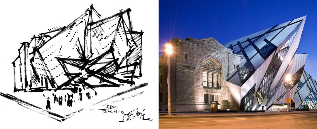 How Architecture Is Born Poetic Sketches By Daniel Libeskind