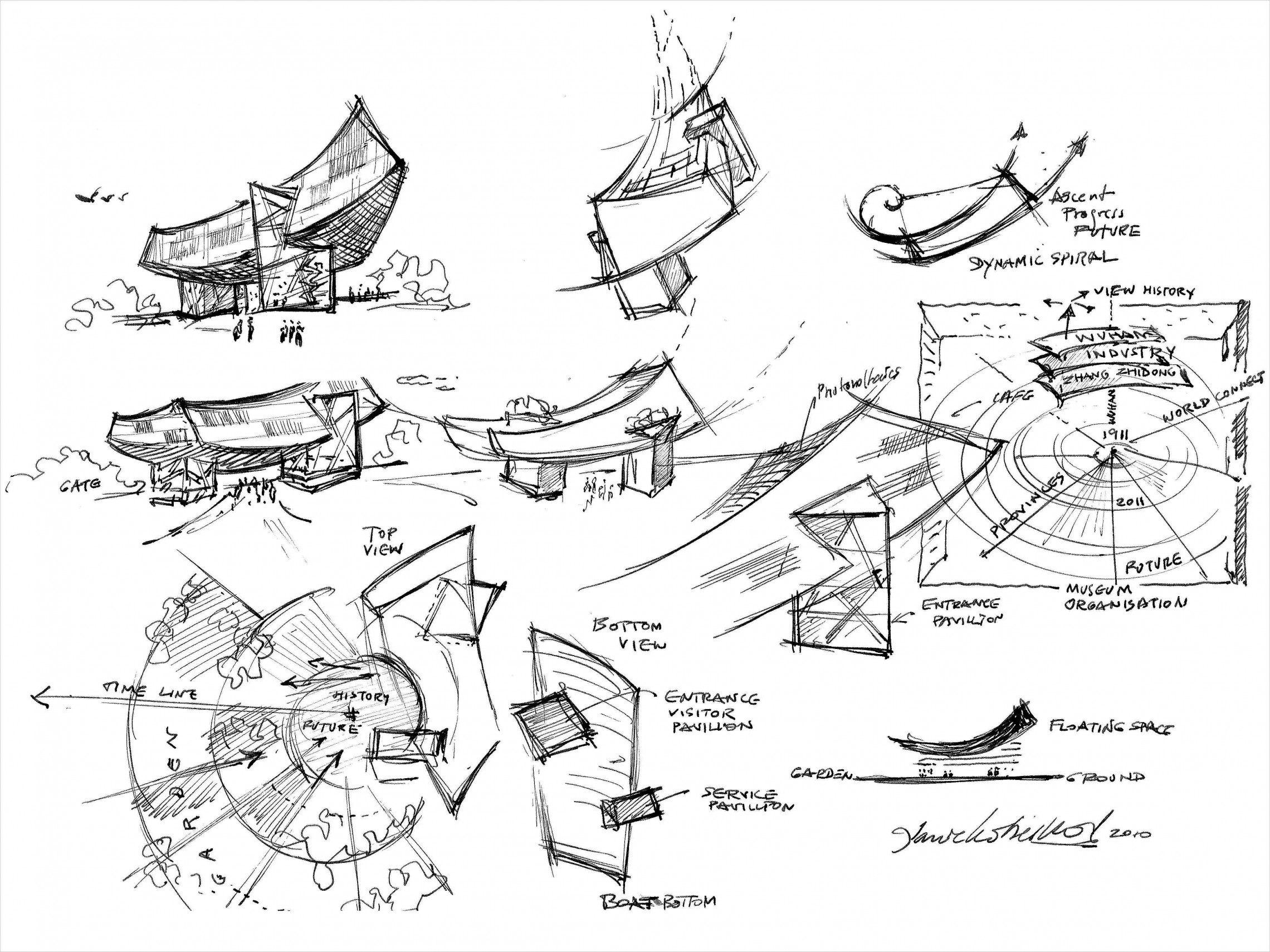 How Architecture Is Born: 7 Poetic Sketches by Daniel