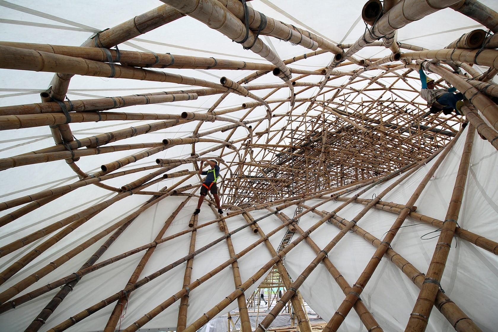 Zcb Bamboo Pavilion Architizer