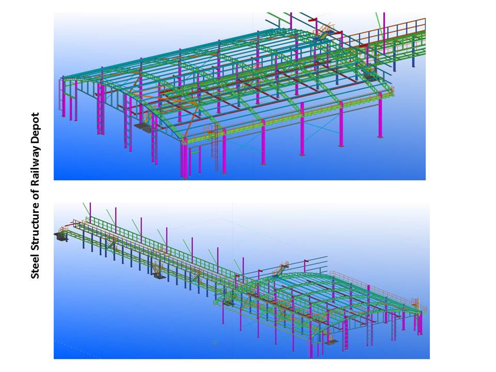 Developing Steel Detailing Structure for Railway Station Depot using