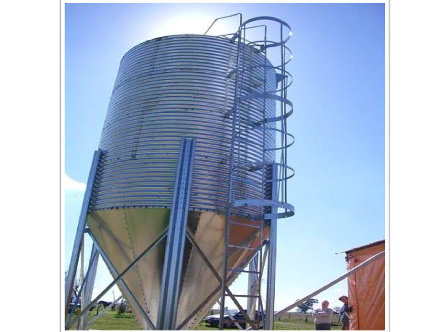 Steel Detailing for 1000 ton Capacity Steel Silo using Tekla on