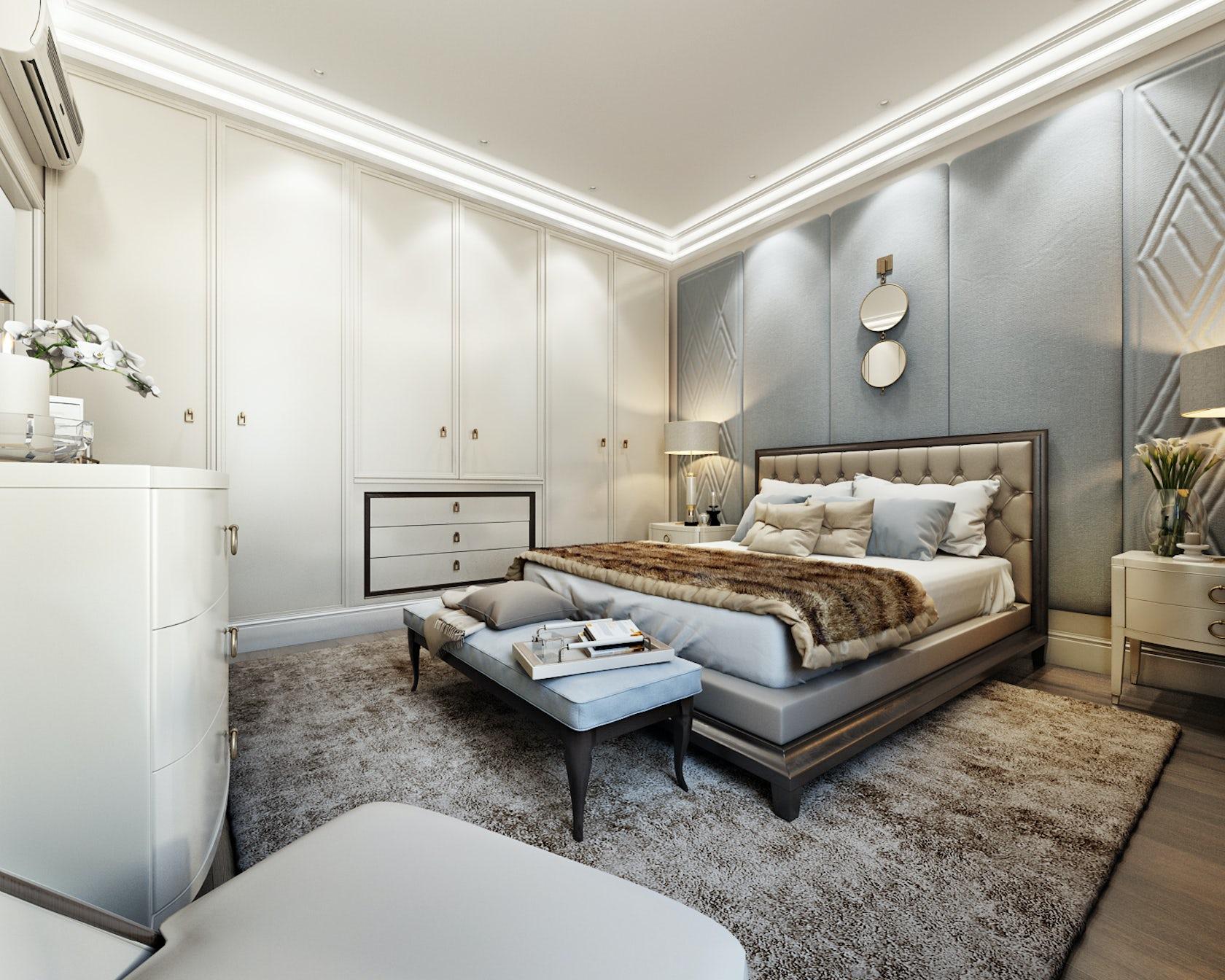 Renders 3d For Master Bedroom Project: Bedroom 3d Render For Fort Worth Project