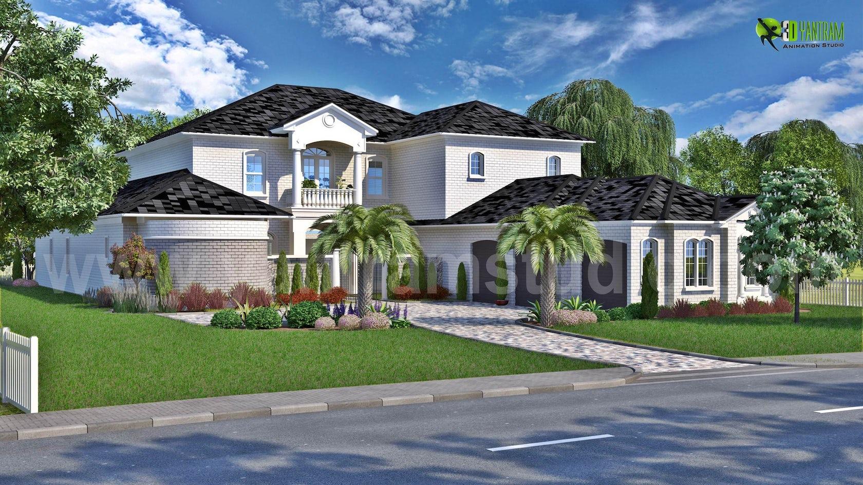 3D Exterior Residential Rendering Design