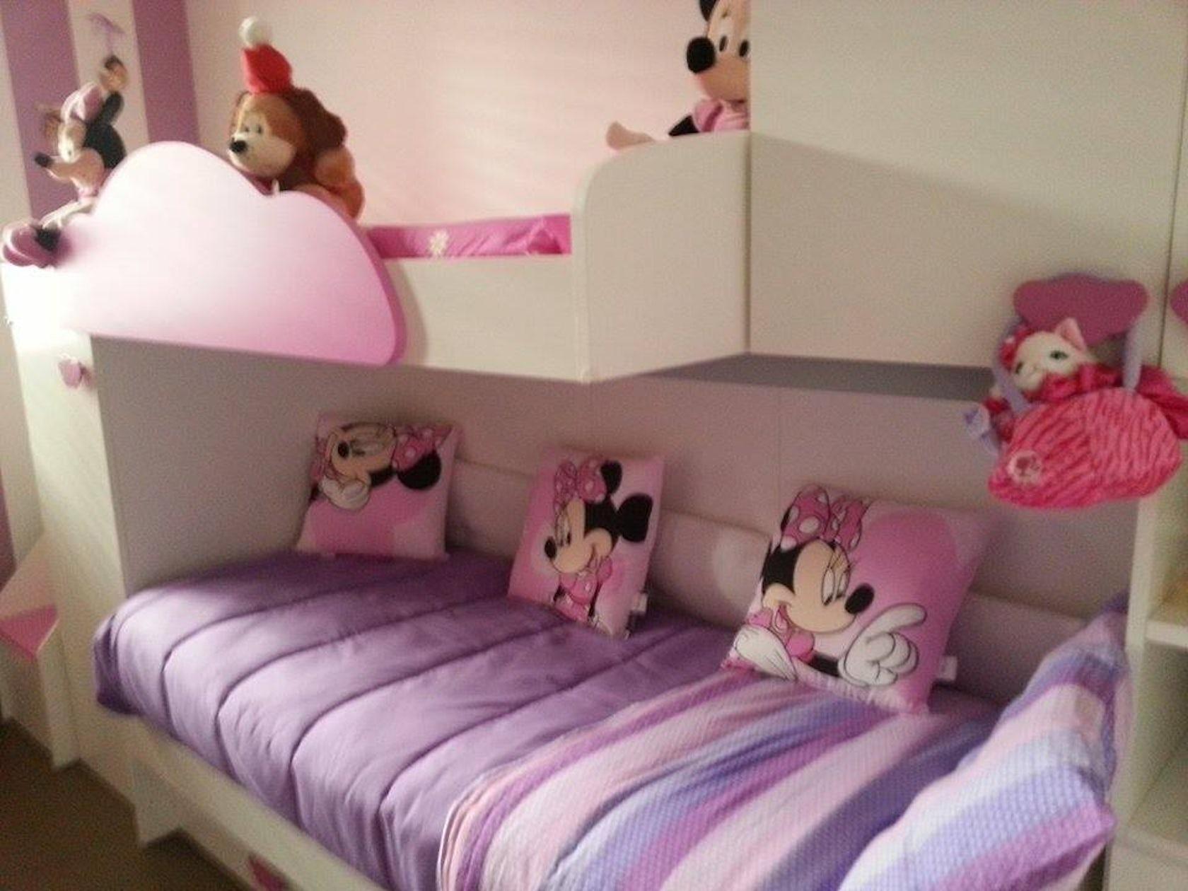 cameretta bambini rosa lilla e bianco architizer
