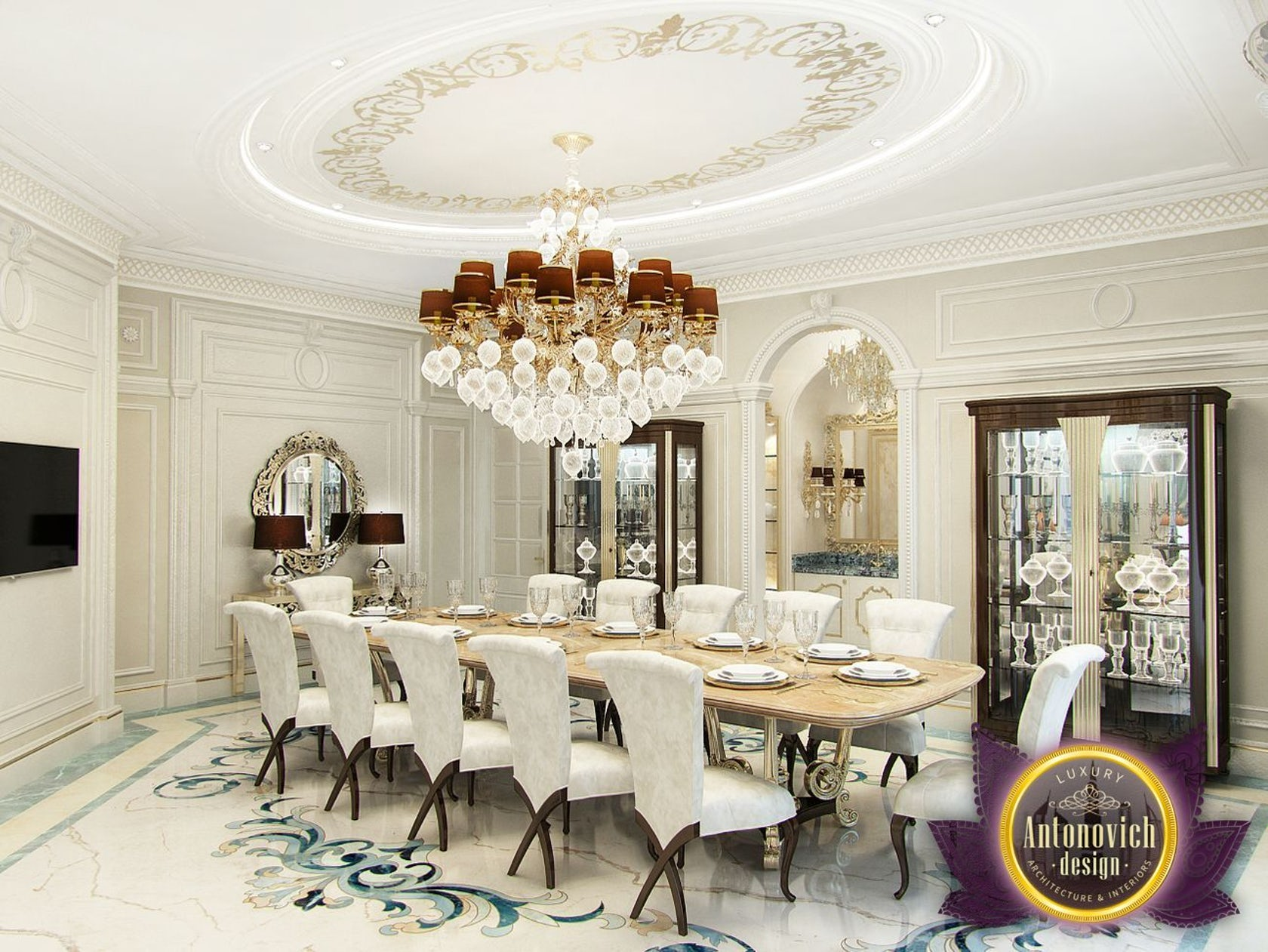 Kitchen Design Usa By Katrina Antonovich: Majlis Interior From Luxury Antonovich Design