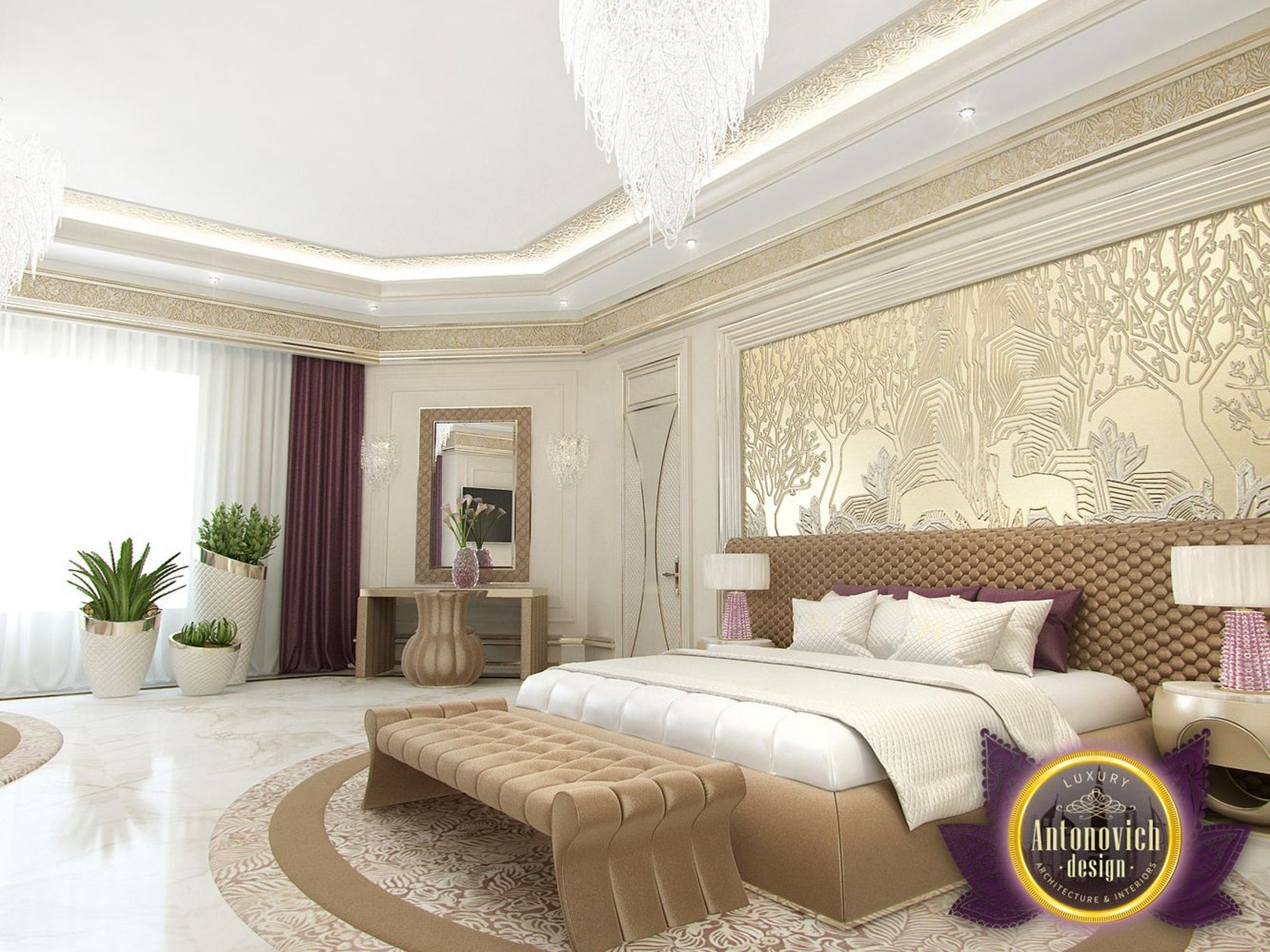 Modern bedroom designs by Luxury Antonovich Design ...