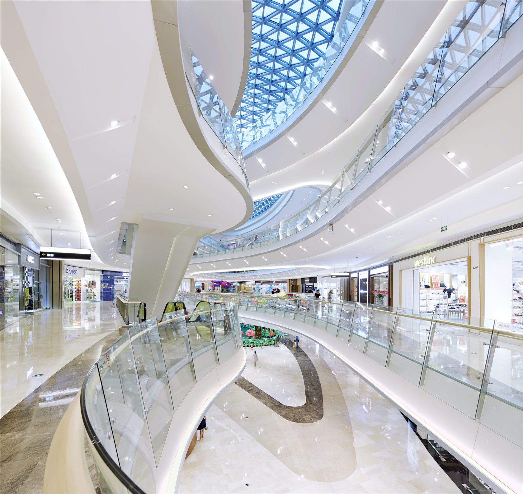 Interior Design Shopping: Gemdale Lake Town Dajing Shopping Mall Lighting Design