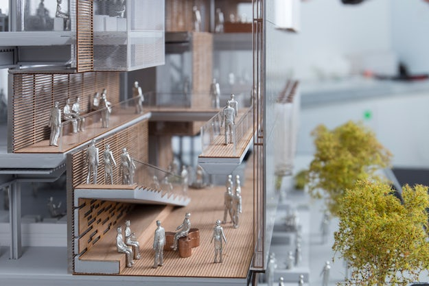 A Detail From SHoP Architects Scale Model For The Uber Headquarters In San Francisco Read More About Project Our Depth Feature To