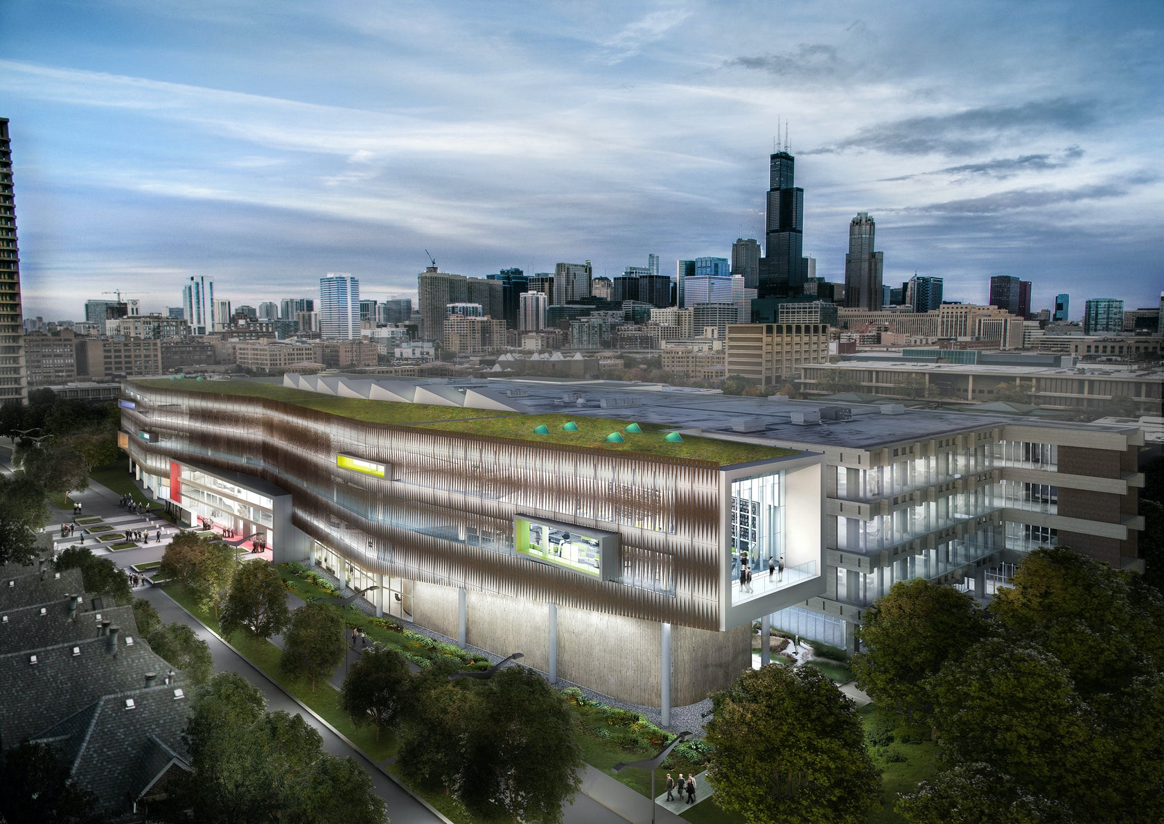 UIC Richard Daley Library Addition Master Plan on Architizer
