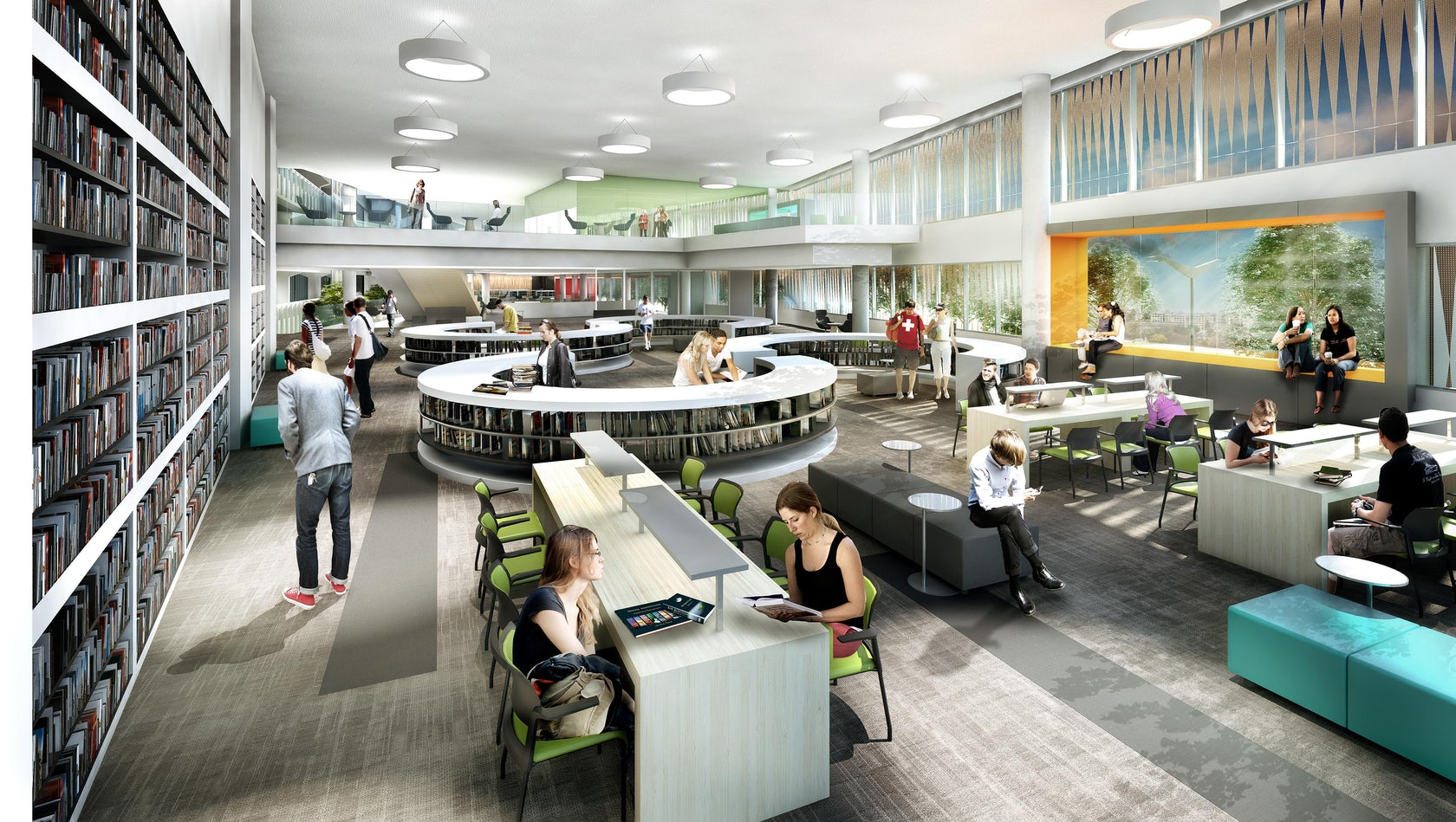 UIC Richard Daley Library Addition Master Plan on Architizer