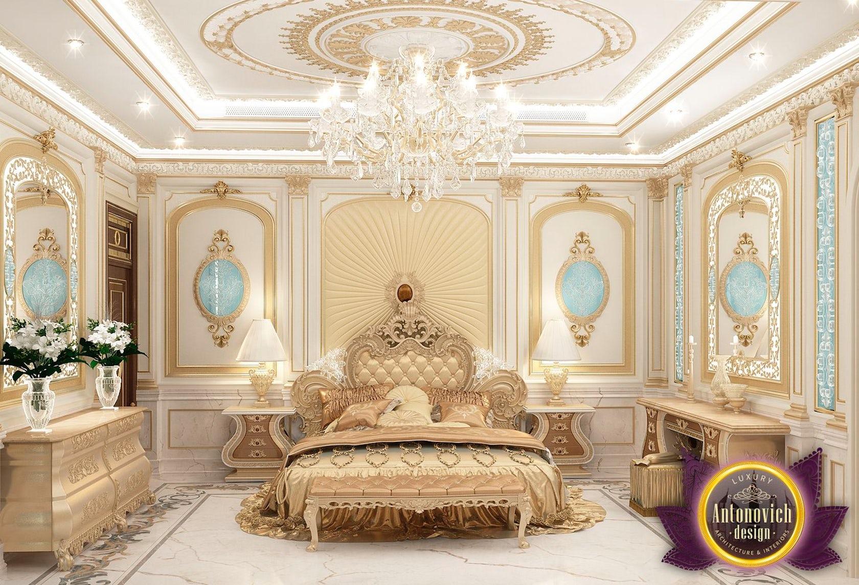 cozy bedroom interior design of luxury antonovich design