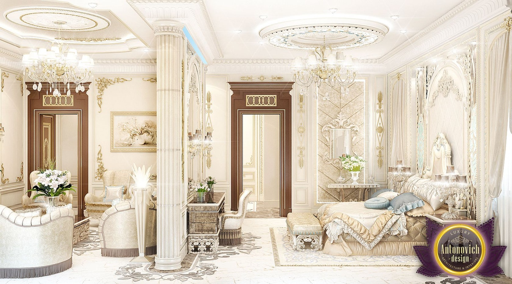 Luxury Royal Arabic Master Bedroom Of Luxury Antonovich Design On Architizer