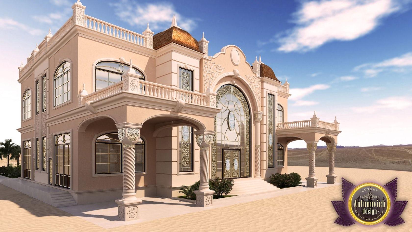 Exterior: Luxury Arabic Villa Exterior From Antonovich Design